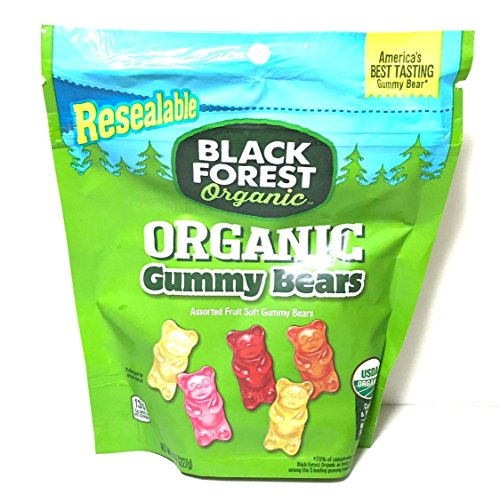 Black Forest Organic Gummy Bears, Assorted Fruit Flavors, 8 - Bears Black Gummi Forest