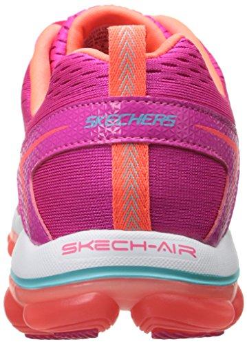 Skechers Skech-Air 2.0 Aim High, Multisports Outdoor Femme Pink (Pink/Orange)