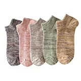 Socks, (10 Pairs) Thick Striped Men's Cotton Socks, Four Seasons Breathable and Sweat Absorbent, Soft and Comfortable, Average Size, Random Colors