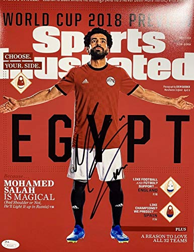 (Mohamed Mo Salah Egypt Sports Illustrated Cover Autographed Signed Memorabilia 11x14 Photo - JSA Authentic )
