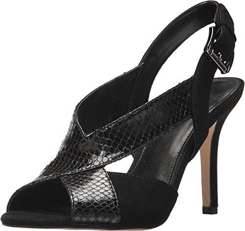 MICHAEL Michael Kors Women's Becky Sandal Black 8 M US (4 Inch Stiletto Heel Slingback Sandal)
