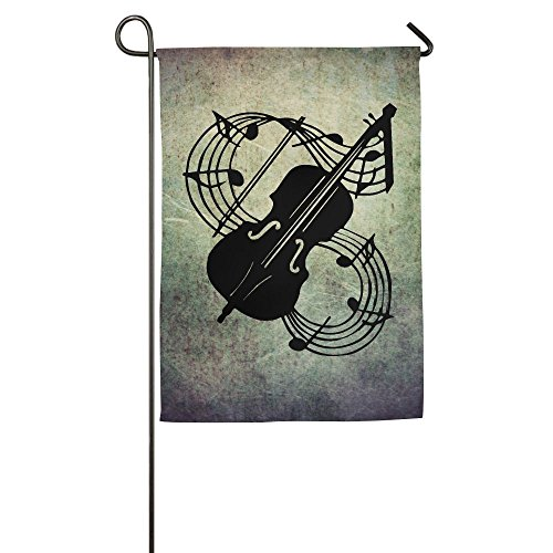 XIA&FLAG Home Flag Musical Note - Violin Durable Translucent Polyester Flag (This Is Halloween Violin Notes)