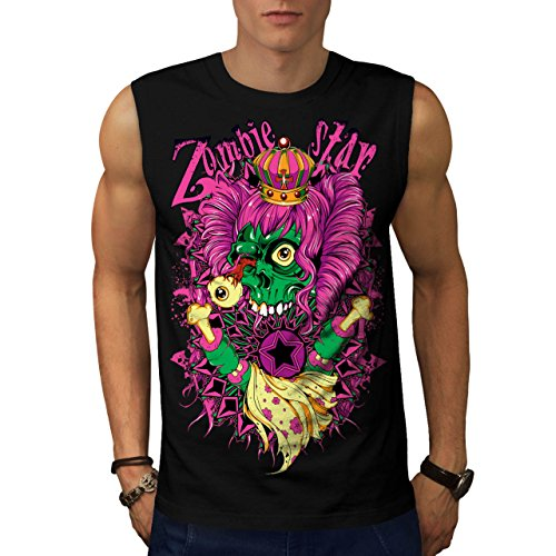 Zombie Queen Star Eye Royal Dead Men NEW S Sleeveless T-shirt | Wellcoda (Voodoo Queen Costume)