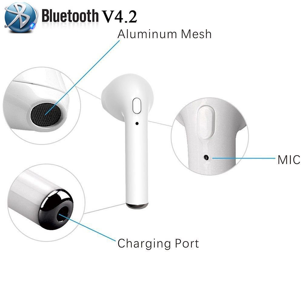 Amazon.com: OGRO Bluetooth Earbuds Stereo Earphone,True Wireless Headphones,Cordless Hand-free Headsets With Charging Case wireless earbuds for iPhone X 8 ...