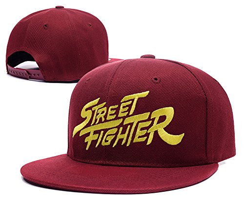 yuduoduo-street-fighter-sf-logo-adjustable-snapback-embroidery-hats-caps-red