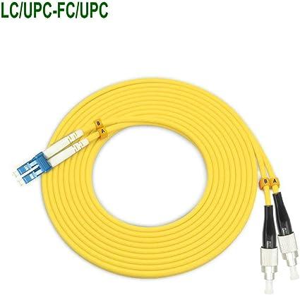 10M ST UPC to LC UPC Fiber Optic Single-Mode Duplex Patch Cable Jumper Cord