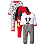 Disney Baby Mickey 3 Pack Coveralls, Red, 3-6 Months