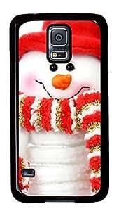 Diy Fashion Case for Samsung Galaxy S5,Black Plastic Case Shell for Samsung Galaxy S5 i9600 with Cute SnowmanKimberly Kurzendoerfer