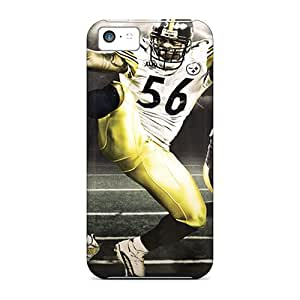 Quality ChrismaWhilten Cases Covers With Pittsburgh Steelers Nice Appearance Compatible With Iphone 5c