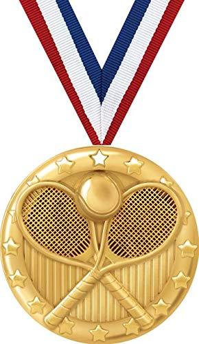 テニスメダル – 2インチゴールドテニスチームメダル賞プライム。 B07GDVB43S