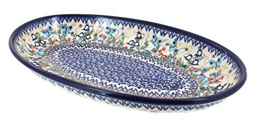 Blue Rose Polish Pottery Garden of Eden Oval Serving Platter ()