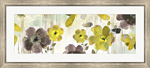 Great Art Now Bouquet Florals by Posters International Studio Framed Art Print Wall Picture, Silver Scoop Frame, 44 x 20 inches