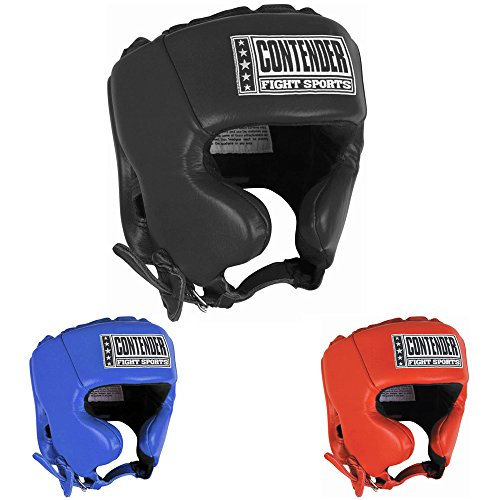 Contender Fight Sports Competition Boxing Muay Thai MMA Sparring Head Protection Headgear with Cheeks – DiZiSports Store