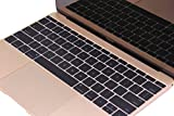 CaseBuy Backlit Series Keyboard Protector Cover Skin for Macbook 12 Inch A1534 and NEWEST MacBook Pro 13 Inch A1708 (Released 2016, No TouchBar)(Hollow Black)