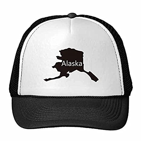 DIYthinker Alaska The United States of America USA Map Stars and Stripes Flag Shape Trucker Hat