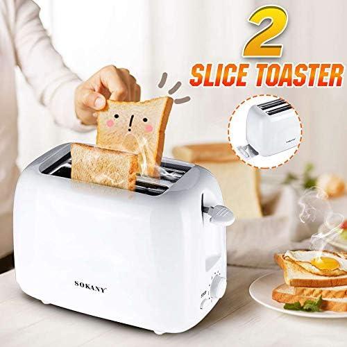GUCL Il Pane, Tostapane tostapane 2 Fetta Mini Automatic Colazione Tostapane