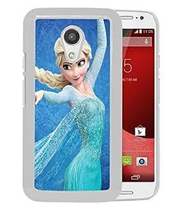 Popular And Unique Custom Designed Case For Motorola Moto G 2nd Generation With Disney Frozen Elsa White Phone Case