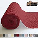 Gorilla Grip Original Drawer and Shelf Liner, Non Adhesive Roll, 17.5 Inch x 20 FT, Durable and Strong, Grip Liners for Drawers, Shelves, Cabinets, Storage, Kitchen and Desks, Red