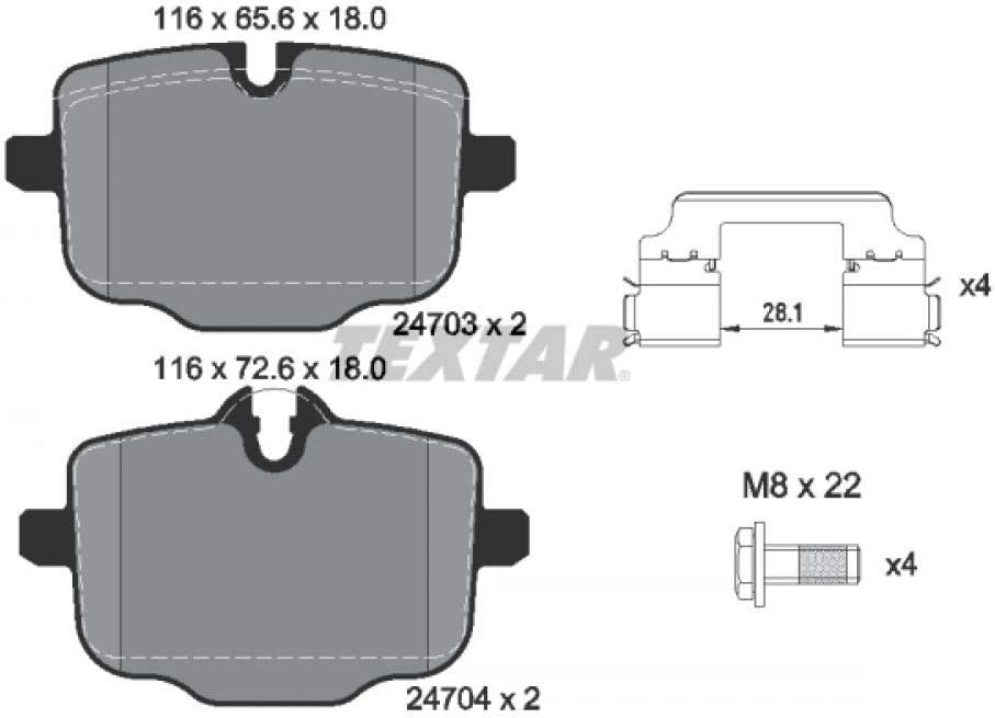 Scheibenbremse Textar 2470301 Bremsbelagsatz