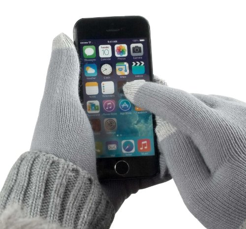 YaYago Gants écran tactile capacitif Taille universelle (env. M–L)–pour HTC Desire 728g