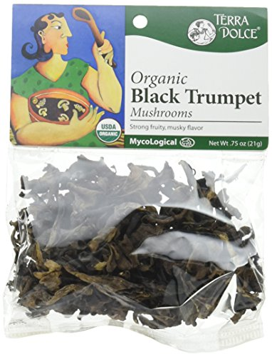 Trumpet Mushrooms - Terra Dolce Mycological Organic Black Trumpet Mushrooms, .75 Ounce