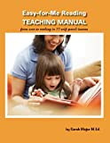 Easy-for-Me Reading Teaching Manual, Sarah K Major, 1936981572