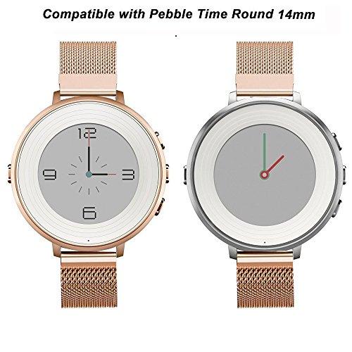 Correa de Reloj Redonda de 14 mm para Pebble Time, ViCRiOR ...