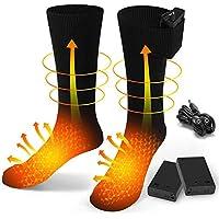 BAOTWO Verwarmde sokken, elektrische verwarmingssokken voor mannen en vrouwen, winterwarme katoenen sokken voetwarmers…