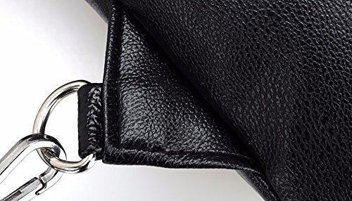 CLOTHES- Wasserdichte Schulter Schräge Kreuz PU Wild Fashion Freizeit Reisetasche Mann Brust Tasche