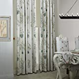 IYUEGO Country Botanical Grass Print Cotton Linen Eco friendly Grommet Top Curtain Draps With Multi Size Custom 50″ W x 84″ L (One Panel) Review
