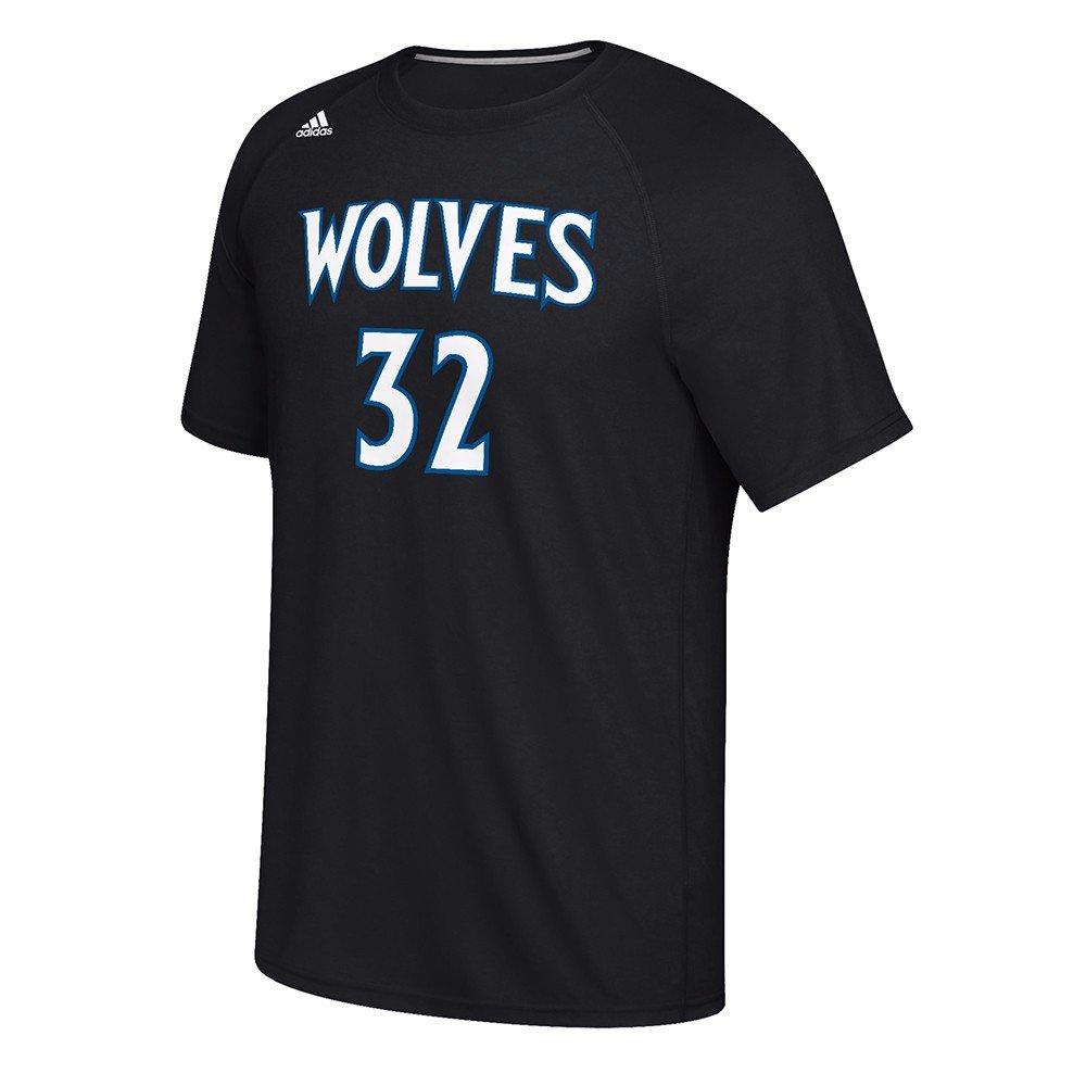 Adidas Karl-Anthony Ciudades Minnesota Timberwolves NBA Reproductor de Color Negro N & N Jersey Climalite Camiseta de Manga Corta para Hombre, XL, ...