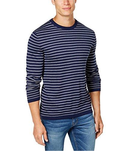 Club Room Mens Silk Blend Knit Basic T-Shirt Blue L