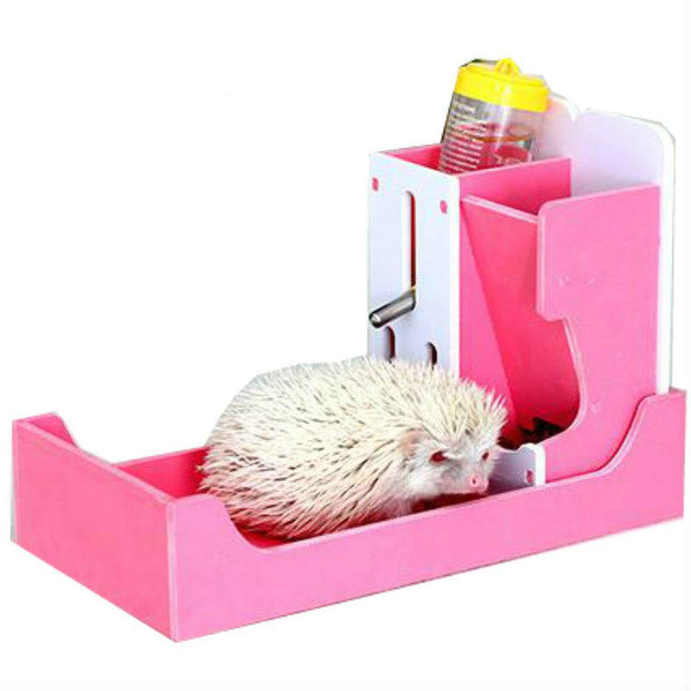 1PCS Mini Hedgehog Three-in-one Food Bowl Hamster Drinking Fountains Guinea Pig Netherlands Pig Small pet Supplies (Without Hedgehog) AP1081848