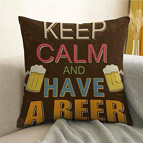 - FreeKite Pillowcase Hug Pillowcase Cushion Pillow Anti-Wrinkle Fading Anti-fouling Have a Beer Vintage Poster Design with Foamy Glasses Cheers Old Pubs and Bars W24 x L24 Inch Multicolor