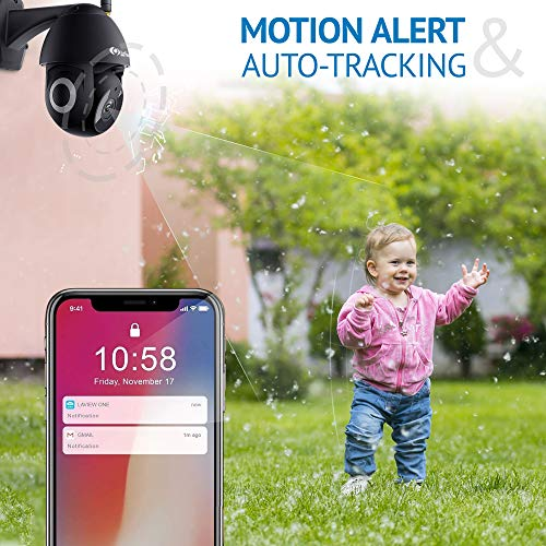 LaView Security Camera Outdoor,1080P HD WiFi Home Security Cameras with Pan/Tilt 360 View,Night Vision,2-Way Audio,IP65,Motion Detection Activity Alert,Easy Set Up,USA Cloud Service with Alexa