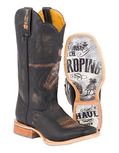 Tin Haul Shoes Mens Open Roper Western Boot Brown pC0b2n