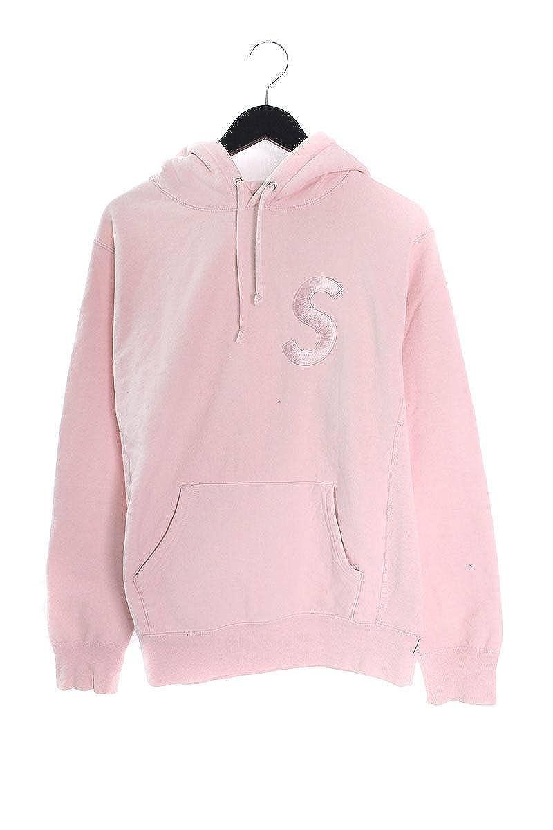 (シュプリーム) SUPREME 【17AW】【Tonal S Logo Hooded Sweatshirt】Sロゴプルオーバーパーカー(S/ピンク) 中古 B07FM4MCLP