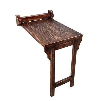 Tavoli Da Pranzo Grandi.Sjysxm Wall Table Tavolo Da Pranzo In Legno Stile Americano Retro