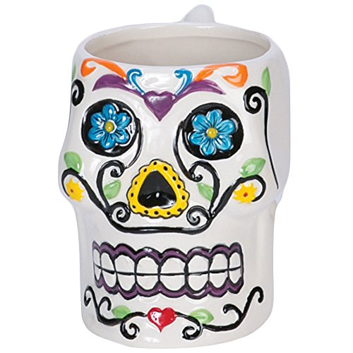 Day Of The Dead Mexican Tradition Colorful Sugar Skull Ceramic Coffee Mug