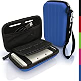 iGadgitz Blue EVA Hard Travel Carry Case Cover for New Nintendo 3DS XL 2015 with Clip On Carry Strap