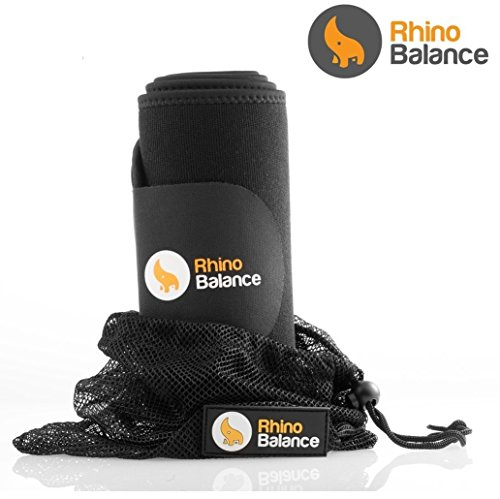Rhino Balance Ultra Soft 3.5mm Neoprene Waist Trimmer Premium Weight Loss Belt – Stomach Fat Burner & Waist Trainer, Sauna Effect, Abdominal Muscle & Back Support, Free Bonus Gifts