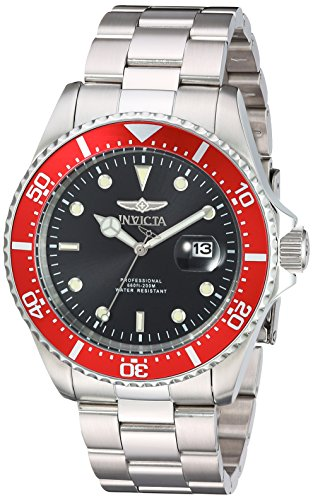Invicta Men's 'Pro Diver' Quartz Stainless Steel Casual Watch, Color:Silver-Toned (Model: 22020)
