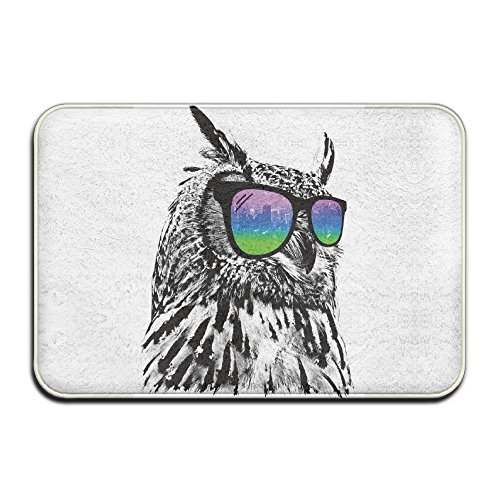 Cool Owl With Sunglass Indoor Door Mats 4060 - Sunglasses Cube Ice With