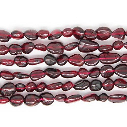 (JARTC Natural Irregular Shape Stone Beads 6-8mm Garnet Gemstone Energy Cured for Jewelry Making Necklaces)