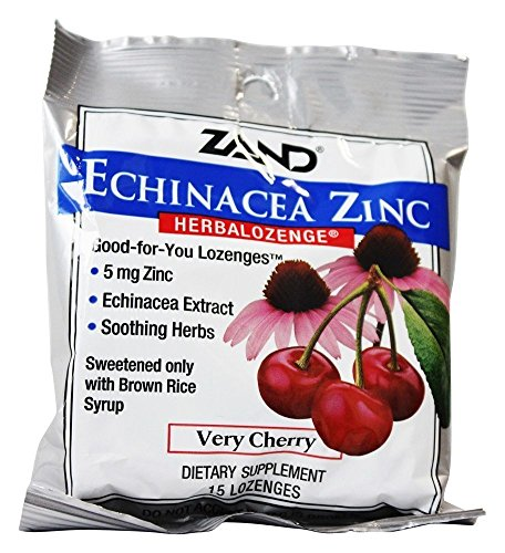 Zand - Herbalozenge Echinacea Zinc Cherry Flavor 5 mg. - 15 Lozenges (pack of 3)