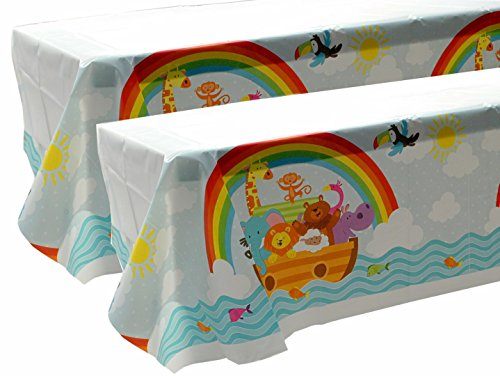 Noah's Ark Animal Pals Table Cover - Pack of 2