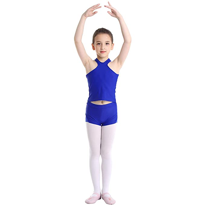inhzoy Conjunto de Danza Yoga para Niña 2Pcs Camiseta + ...