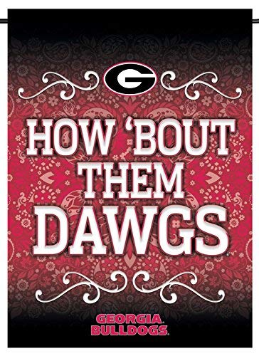 (Rico Industries, Inc. Georgia Bulldogs Dawgs RICO Premium 2-sided GARDEN Flag Banner University of)