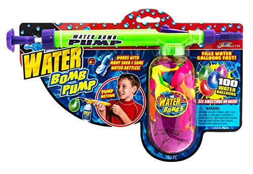 2GoodShop Water Balloon Pump + 100 Balloons by JA-RU | Pump Fills Bombs Fast Item #714 by 2GoodShop