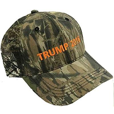 Trump 2016 Camouflage Hat - Mossy Oak - Mesh Camo Cap